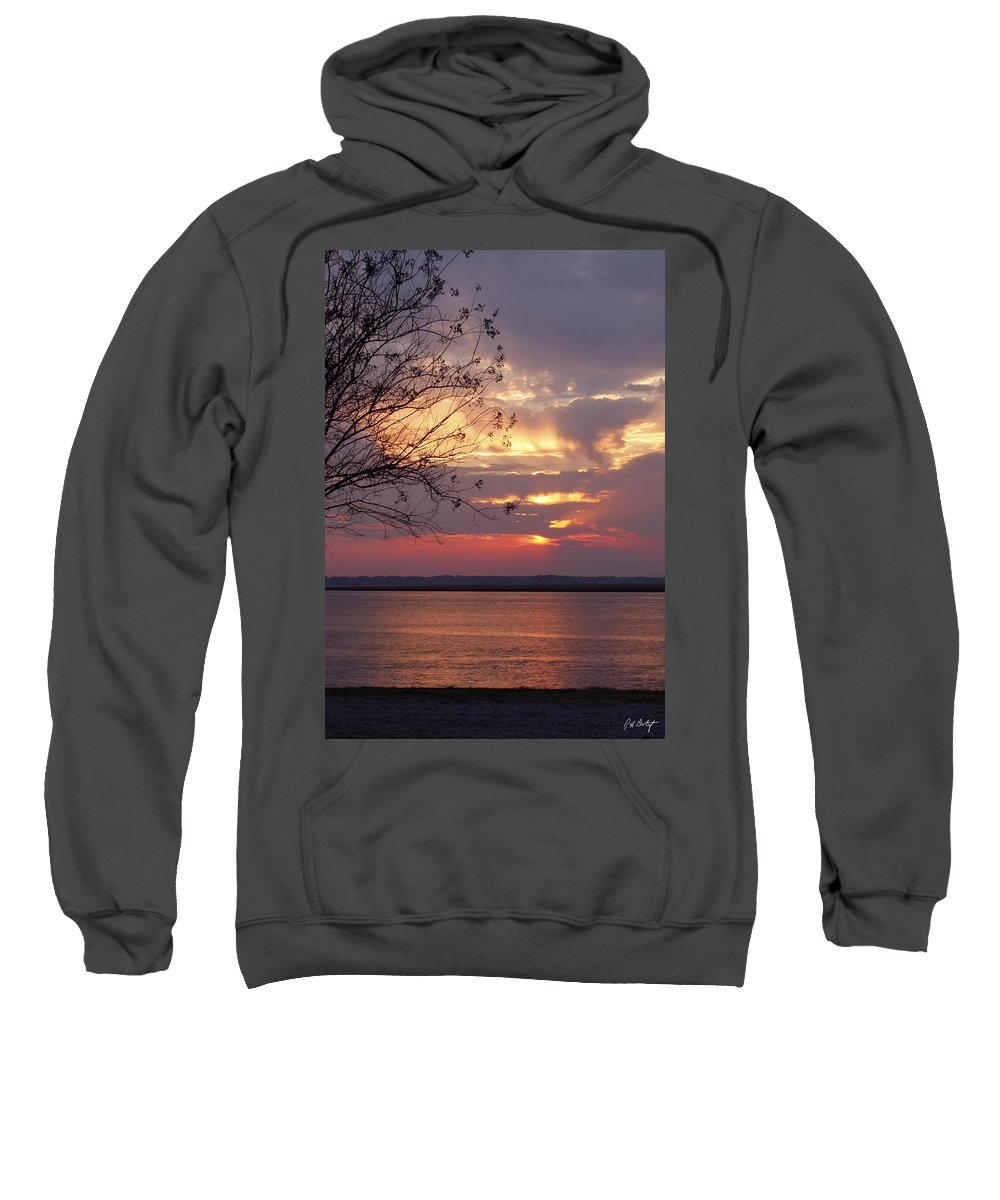 Sunset Sweatshirt featuring the photograph Angry Sky by Phill Doherty