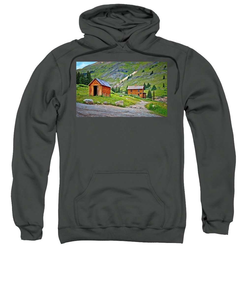 Animas Forks Sweatshirt featuring the photograph Animas Forks Ghost Town by Linda Unger