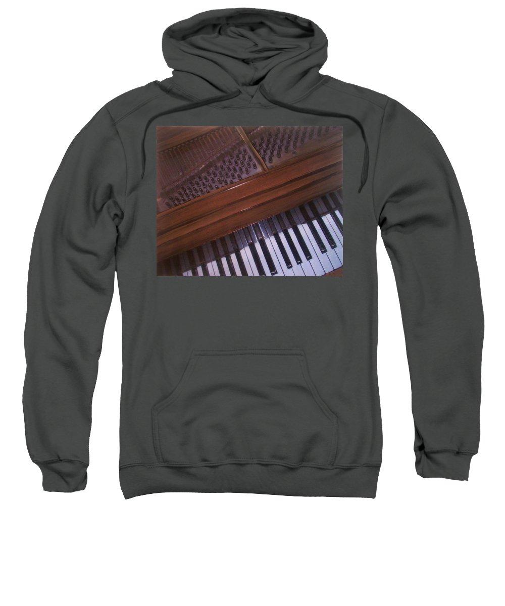 Piano Sweatshirt featuring the mixed media Anita's Piano 1 by Anita Burgermeister