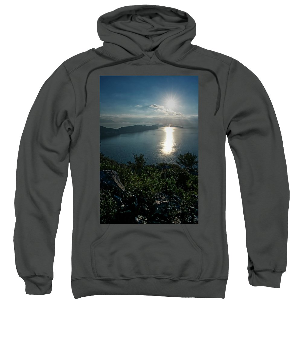 Landscape.seascape . Sea View. Beautiful Day. Nature. Sweatshirt featuring the photograph Another Beautiful Day. by Yau Ming Low
