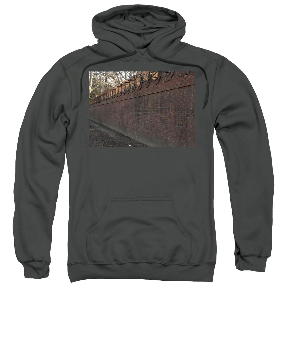 Wall Sweatshirt featuring the photograph Another Brick In The Wall by Steven Natanson