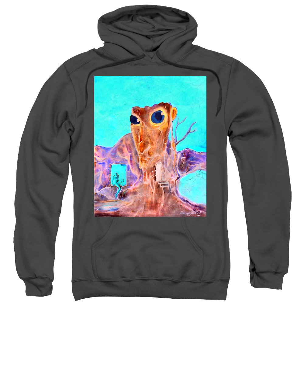 Surreal Color Eyes Structure Sweatshirt featuring the painting Another Few Seconds In My Head by Veronica Jackson