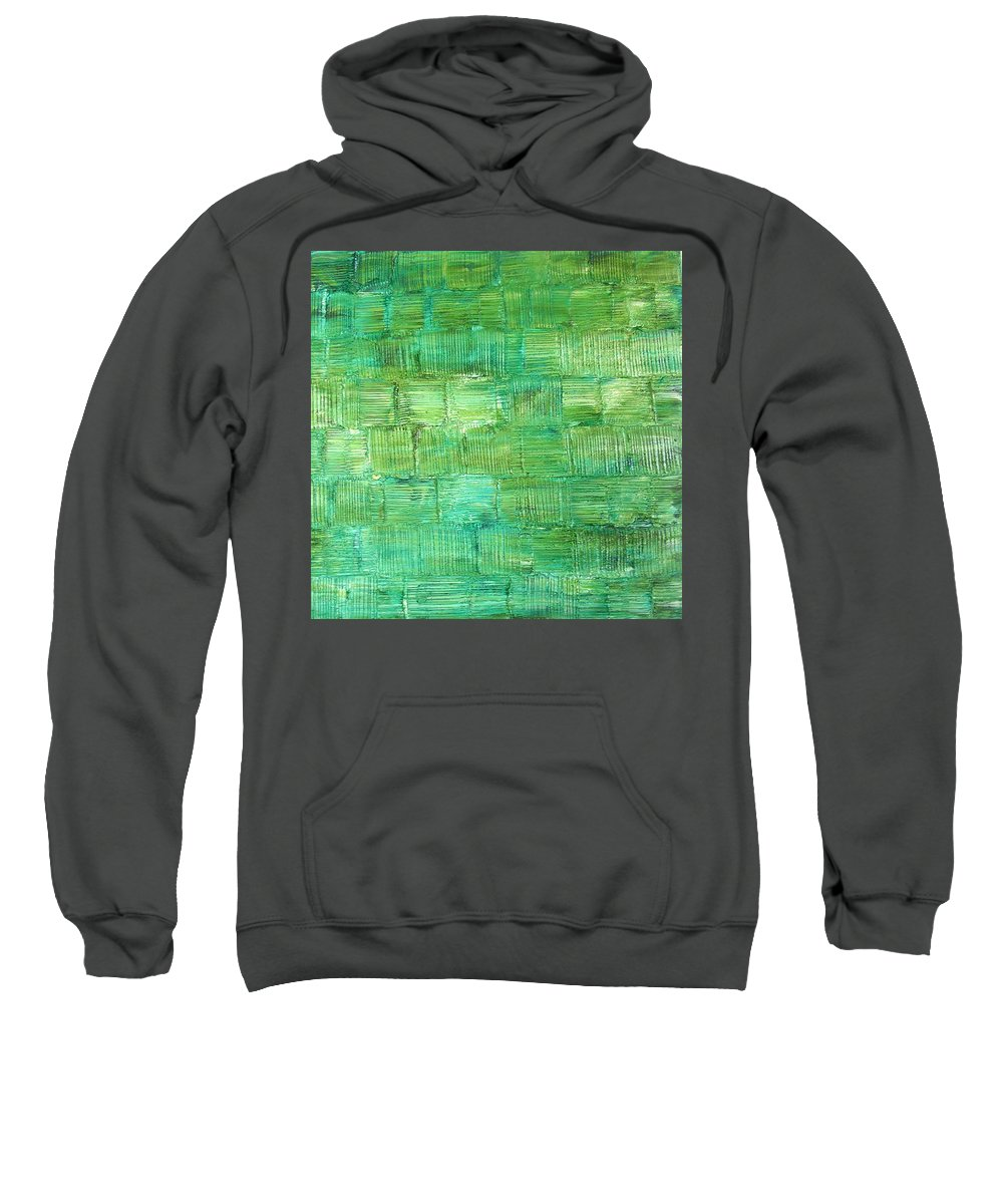Another Place Sweatshirt featuring the painting Another Place by Dawn Hough Sebaugh