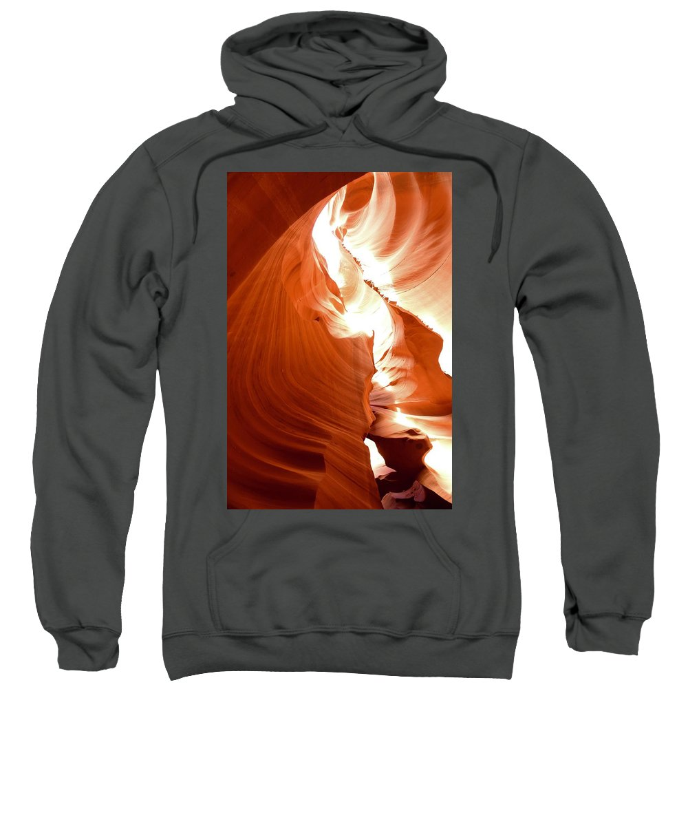 Antelope Canyon Sweatshirt featuring the photograph Antelope Canyon Scuplture by Barbara Stellwagen