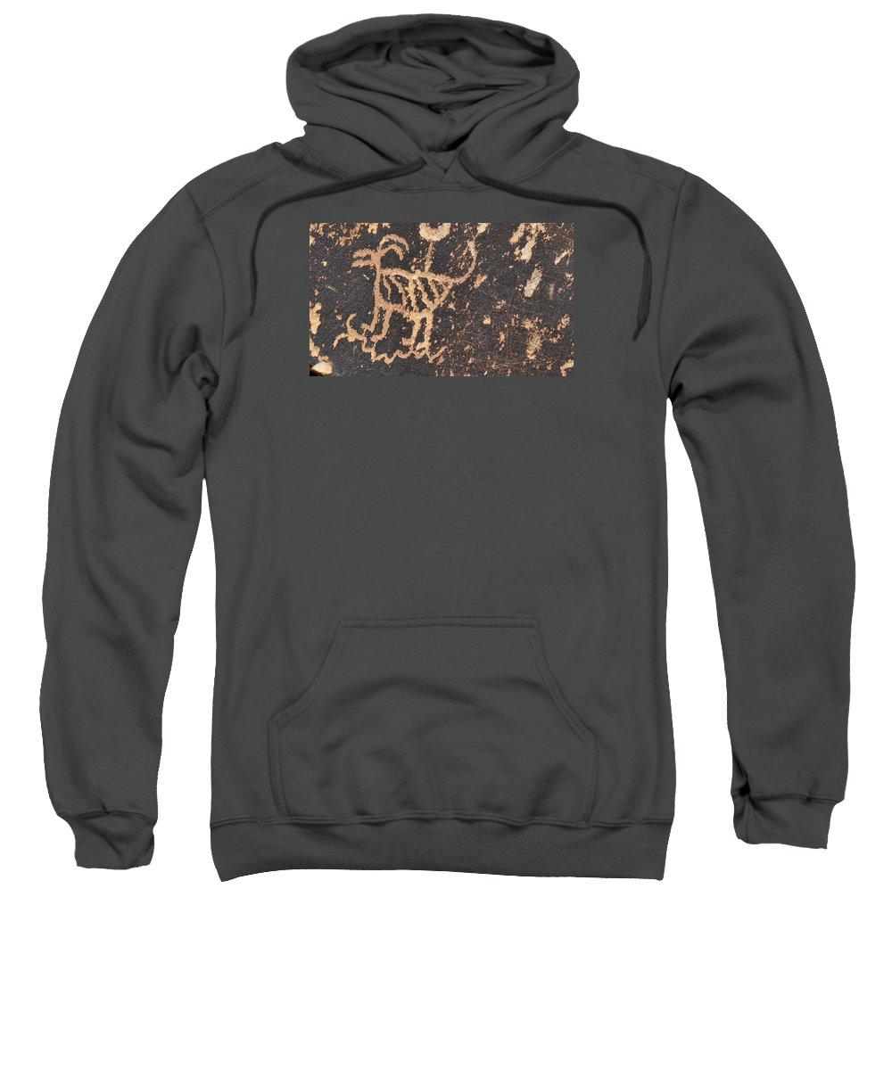 Native American Art Sweatshirt featuring the photograph Antelope Petroglyph by David Arment