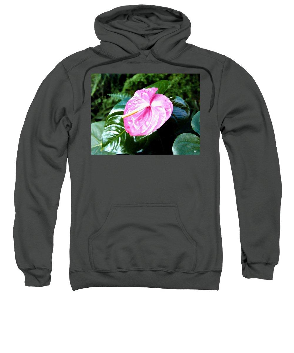 1986 Sweatshirt featuring the digital art Anthurium by Will Borden