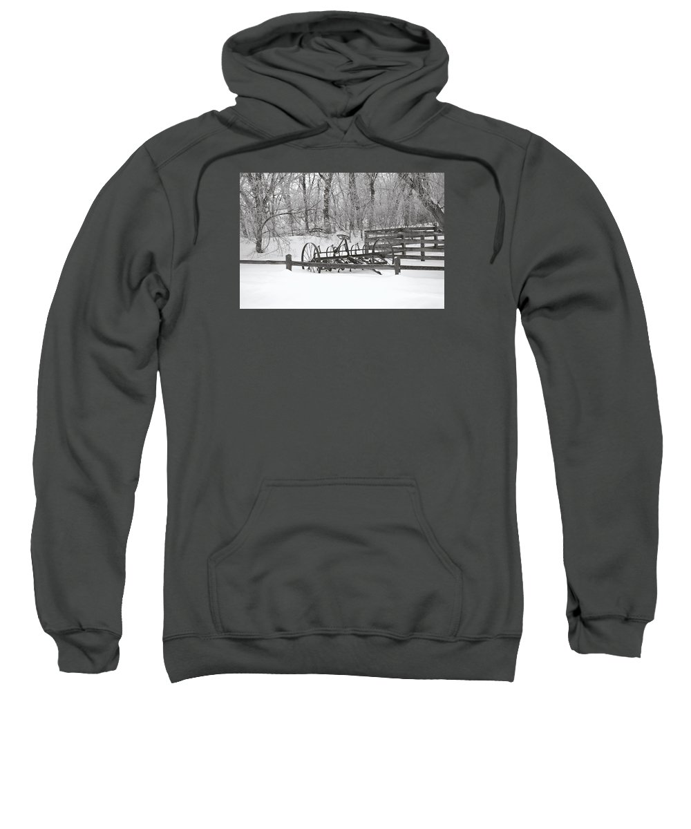Cultivator Sweatshirt featuring the photograph Antique Field Cultivator by Nicole Frederick