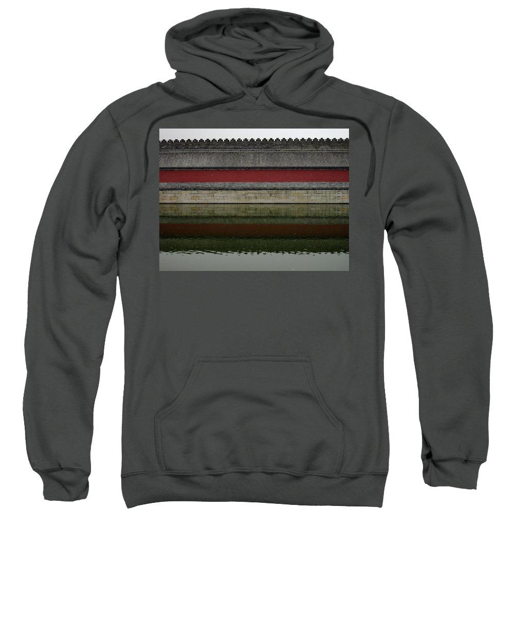 Beijiging Sweatshirt featuring the photograph Antique Perimetral Wall by Stefania Levi
