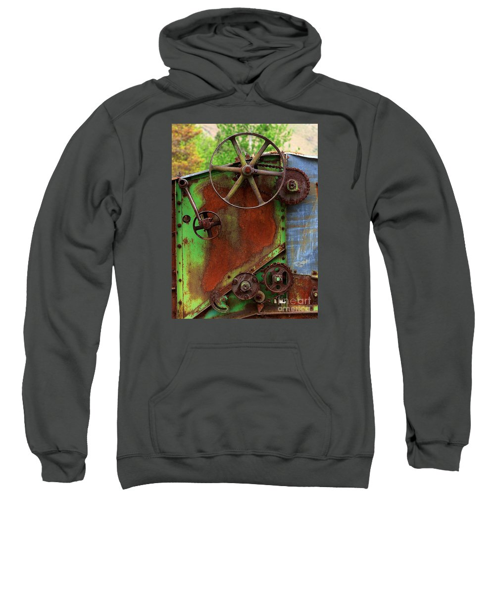 Farming Sweatshirt featuring the photograph Antique Thrasher by Penny Haviland