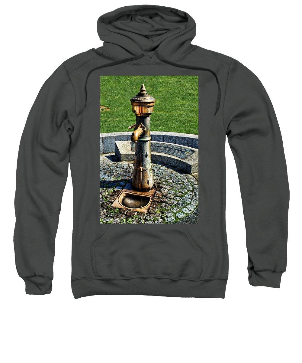 Antique Water Fountain Sweatshirt featuring the photograph Antique Water Fountain by Mariola Bitner
