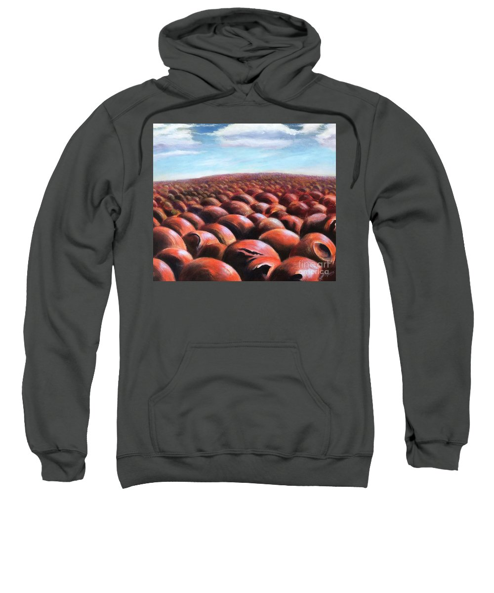 Ants Sweatshirt featuring the painting Ant's Eye View Of Sand by Randy Burns