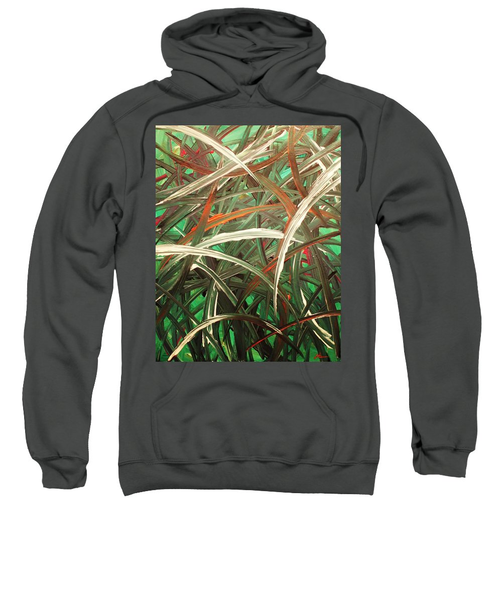 Abstract Sweatshirt featuring the painting Anxiety by Todd Hoover