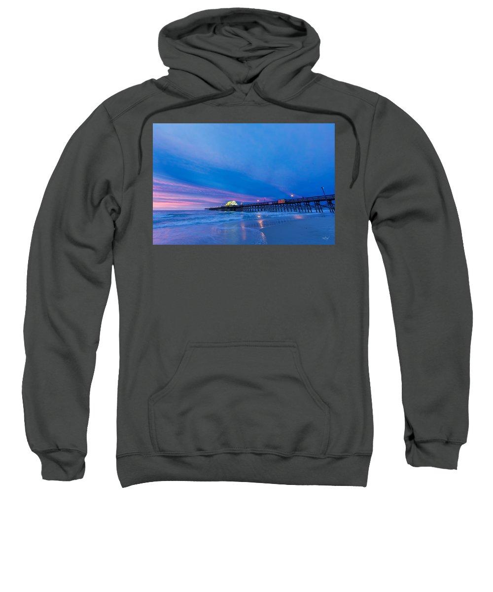 Apache Sweatshirt featuring the photograph Apache Pier At Sunrise by Everet Regal