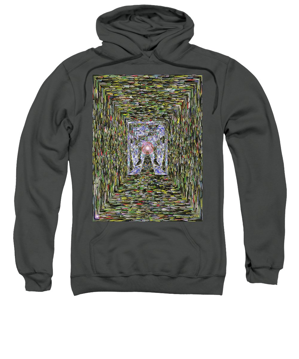 Abstract Sweatshirt featuring the photograph Approaching by Tim Allen