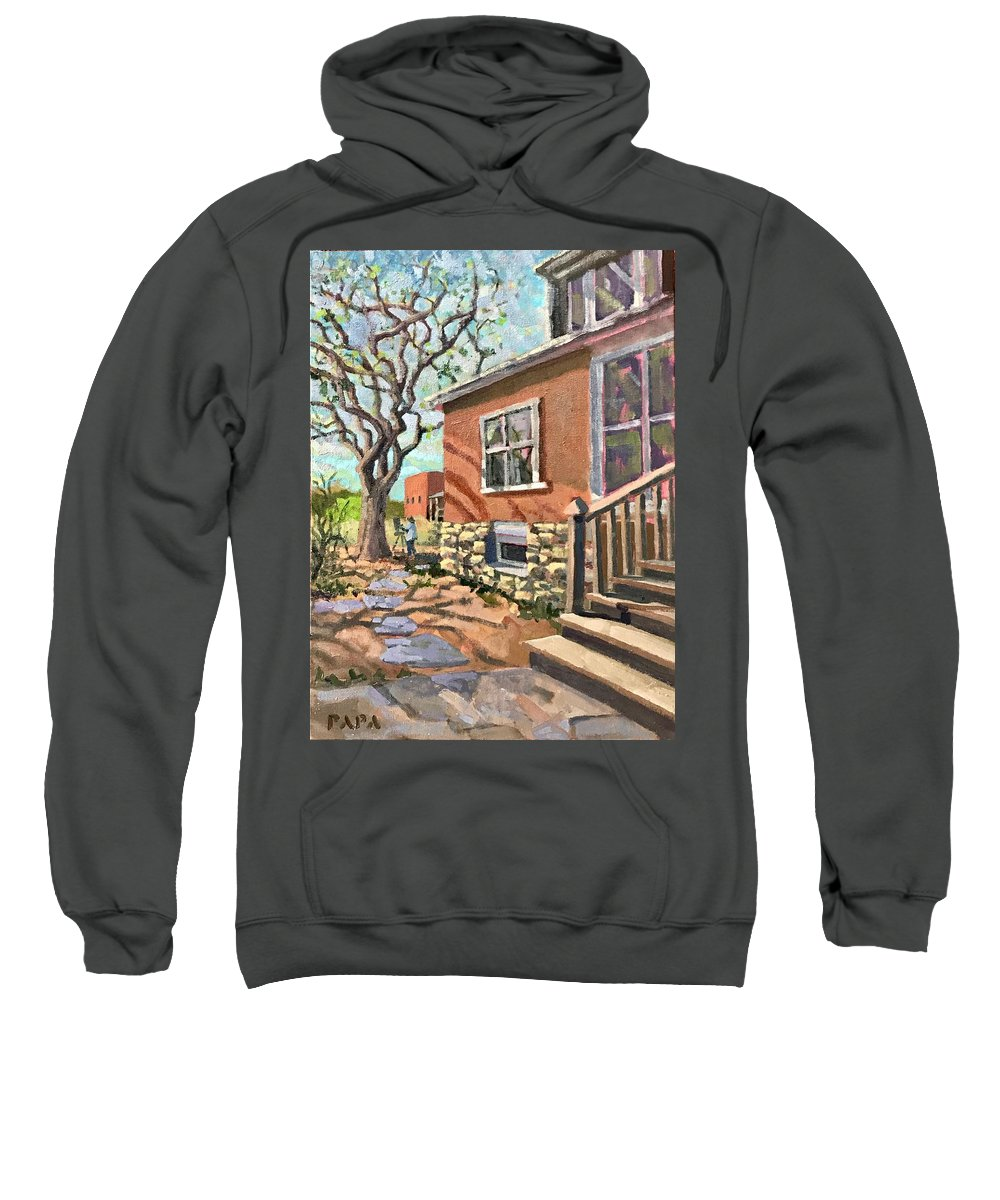 El Rancho Sweatshirt featuring the painting April Afternoon Light by Ralph Papa