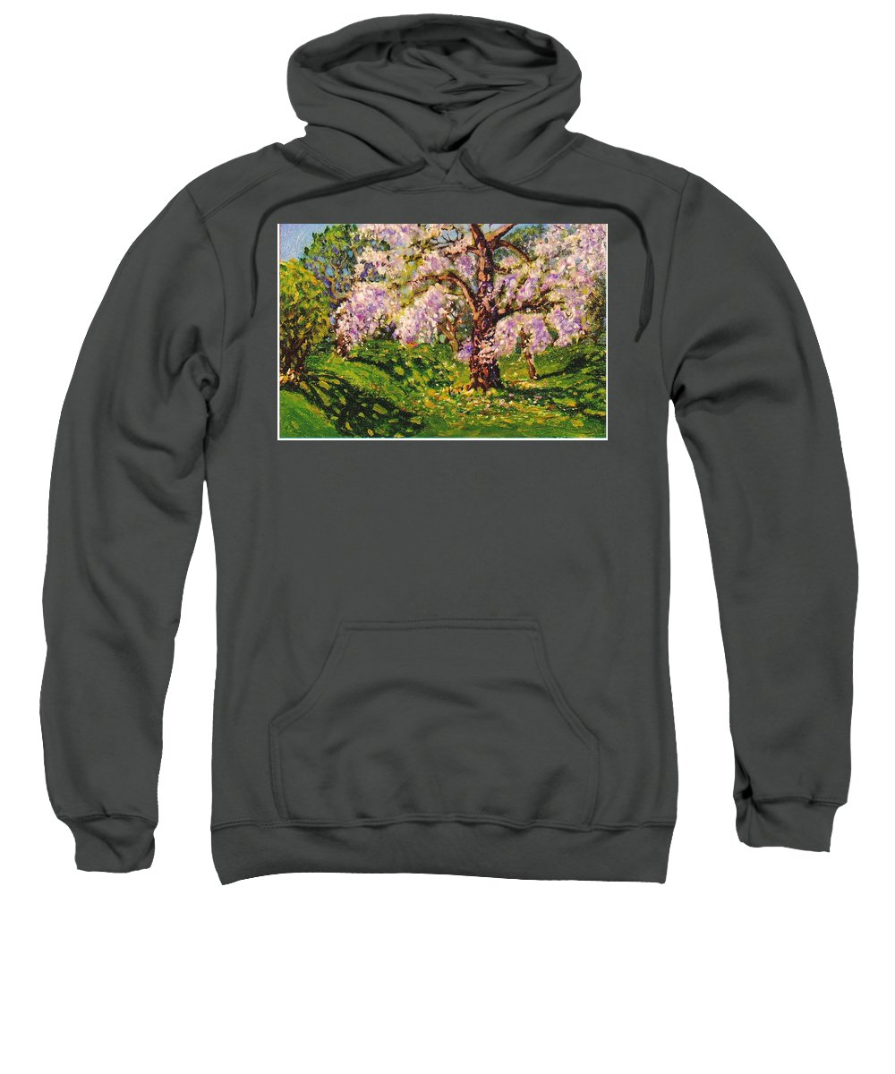 Scenic Sweatshirt featuring the painting April Dream by Jonathan Carter