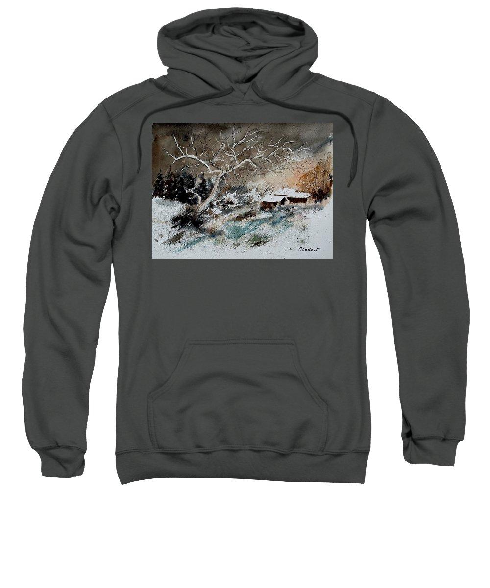 Winter Sweatshirt featuring the painting Aqua 290108 by Pol Ledent