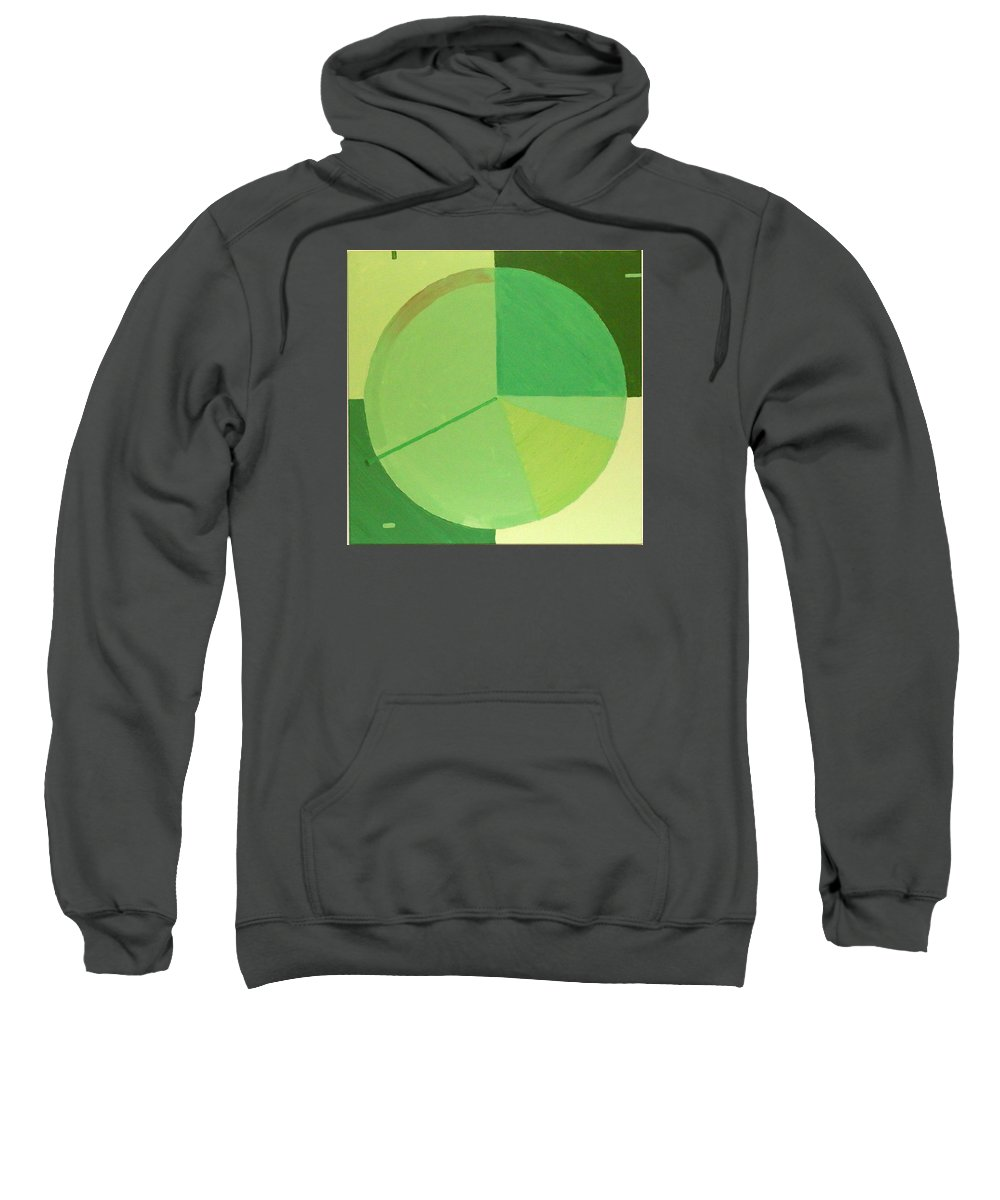 Landscape Sweatshirt featuring the painting Aquifer # 4 by Jonathan Perlstein