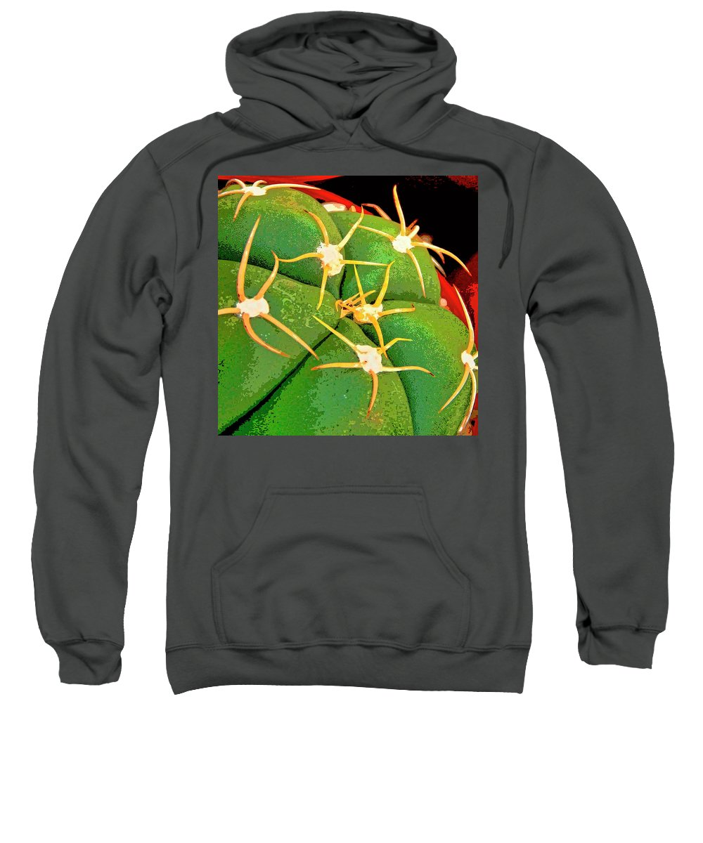 Cactus Sweatshirt featuring the mixed media Arachnids by Dominic Piperata