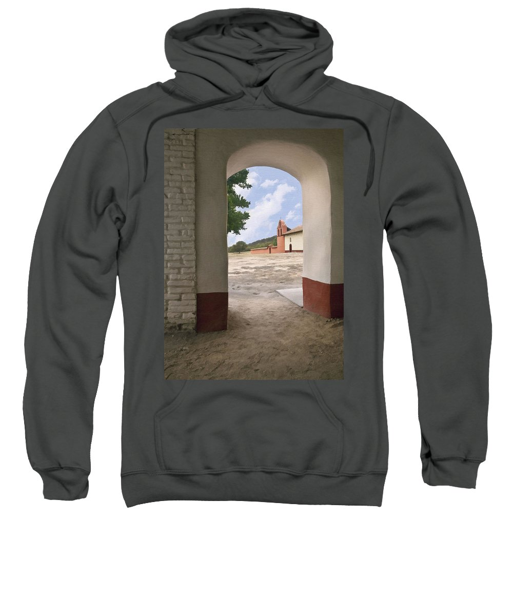 Architecture Sweatshirt featuring the photograph Arch At La Purisima by Sharon Foster