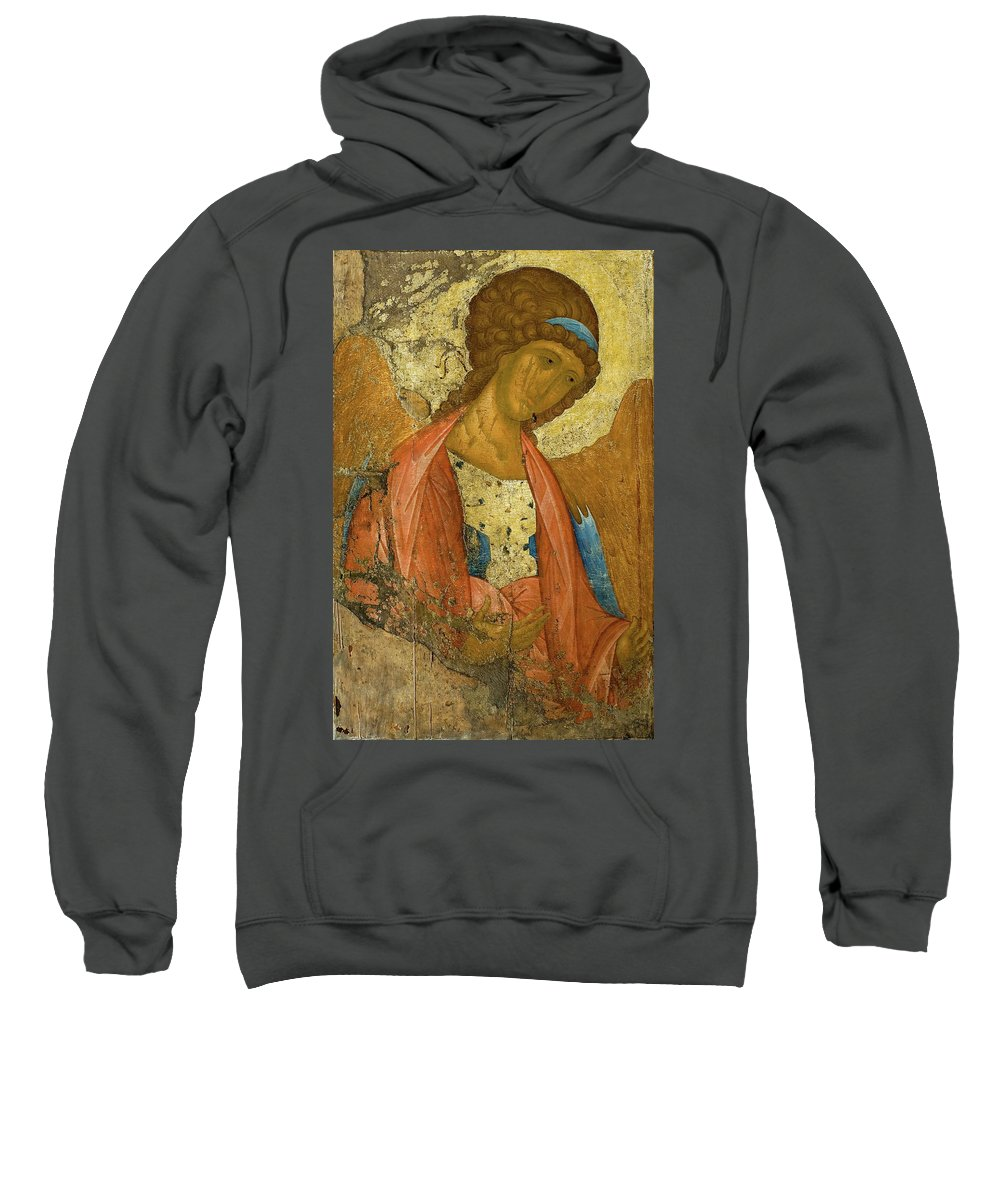 Andrei Rublev Sweatshirt featuring the painting Archangel Michael by Andrei Rublev
