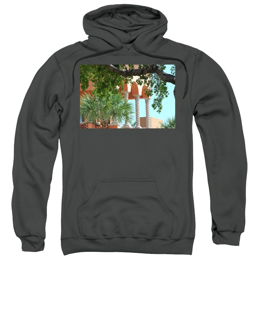 Architecture Sweatshirt featuring the photograph Arches Thru The Trees by Rob Hans