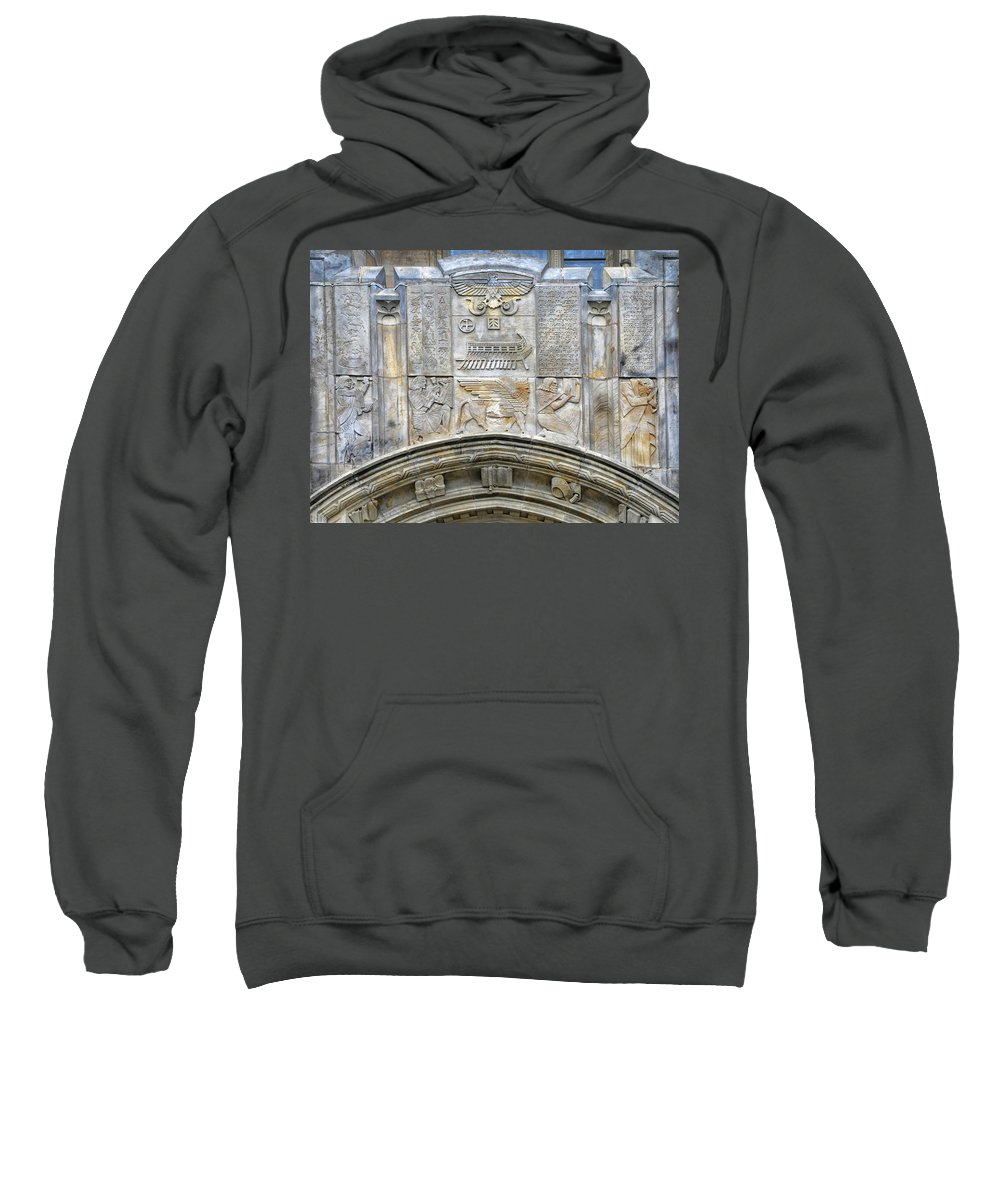 Architectural Detail Sweatshirt featuring the photograph Architectural Detail by Dave Mills