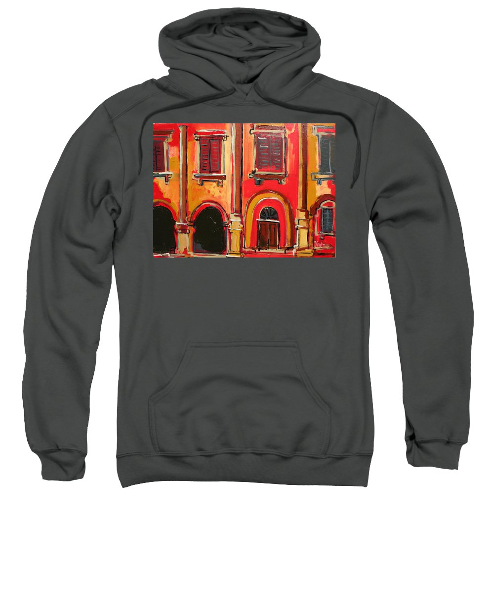 Tuscany Sweatshirt featuring the painting Arco Di Firenze by Kurt Hausmann
