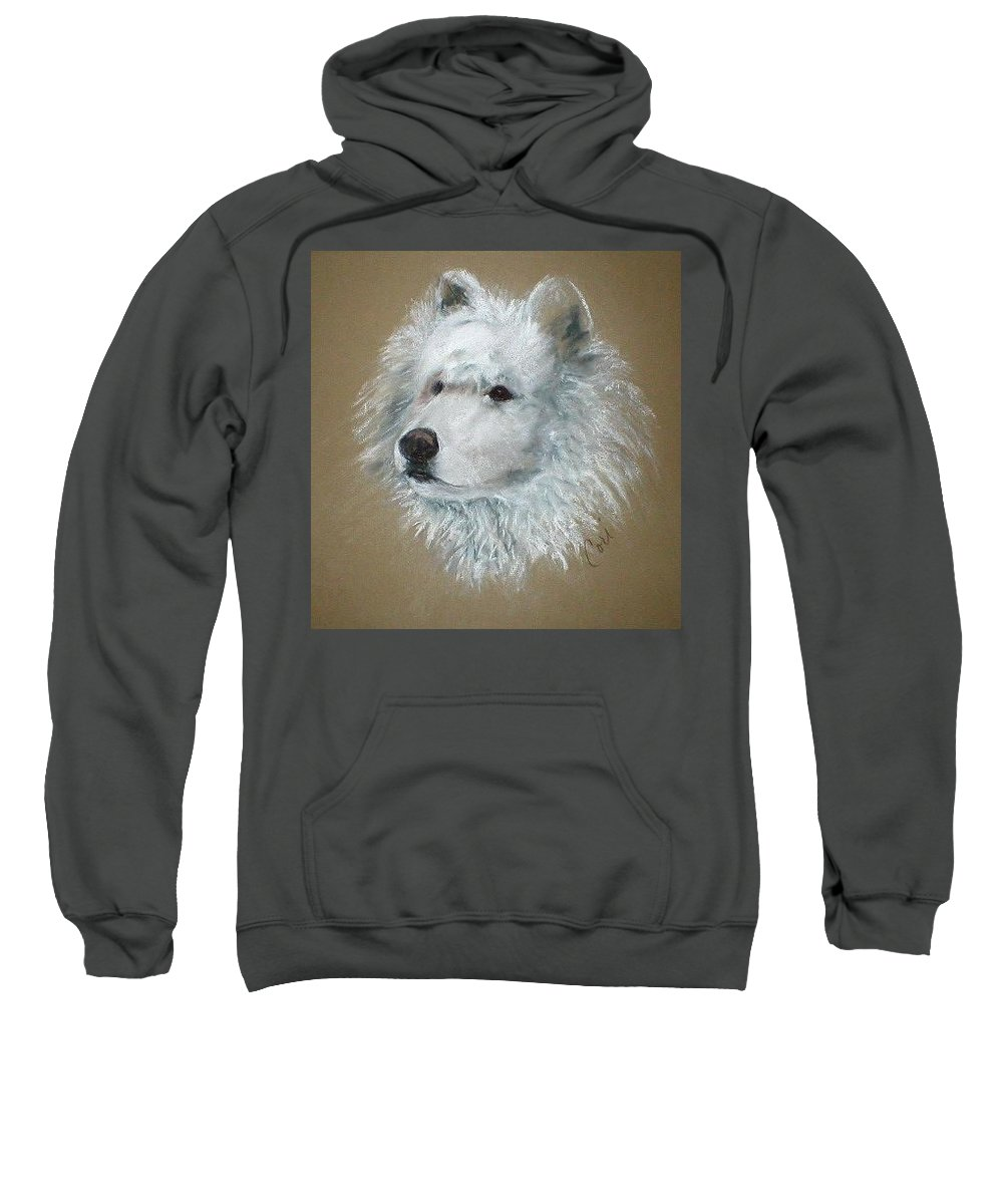 Pastel Sweatshirt featuring the drawing Arctic Majestry by Cori Solomon