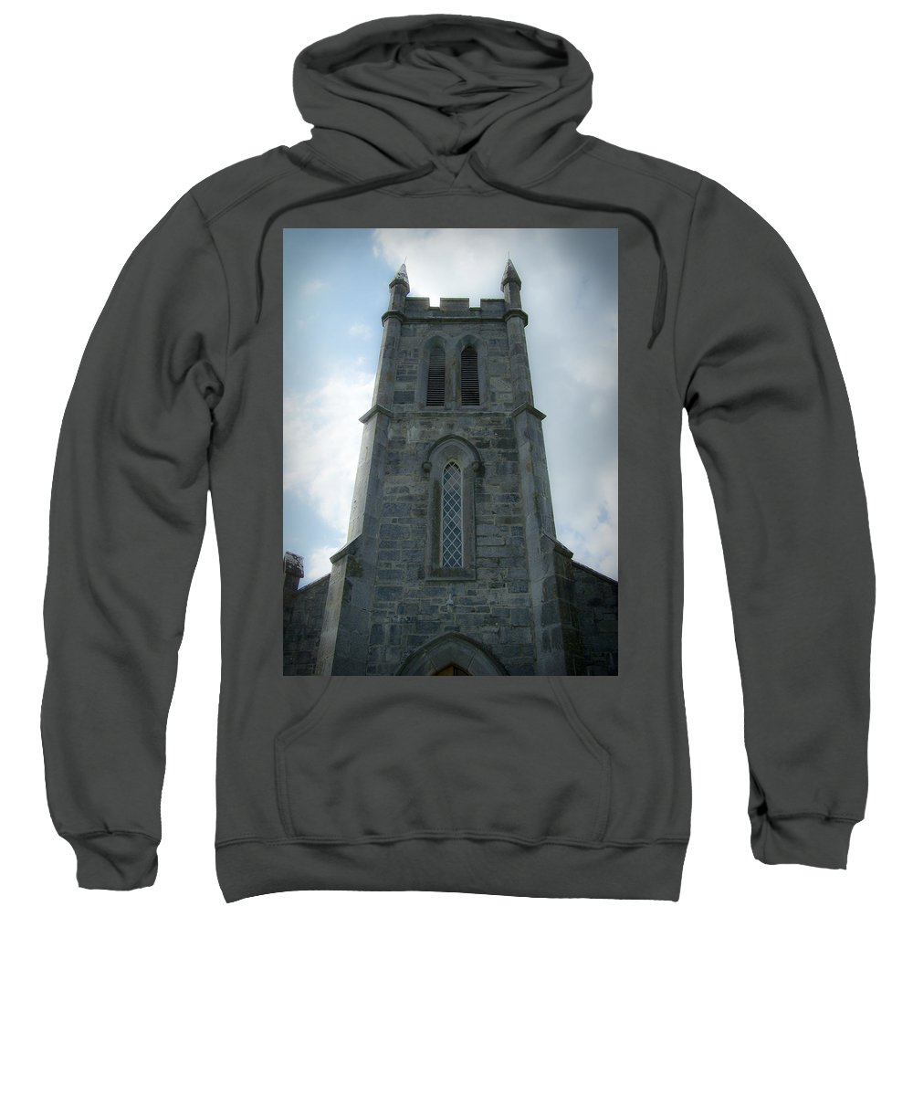Irish Sweatshirt featuring the photograph Ardcroney Church County Clare Ireland by Teresa Mucha