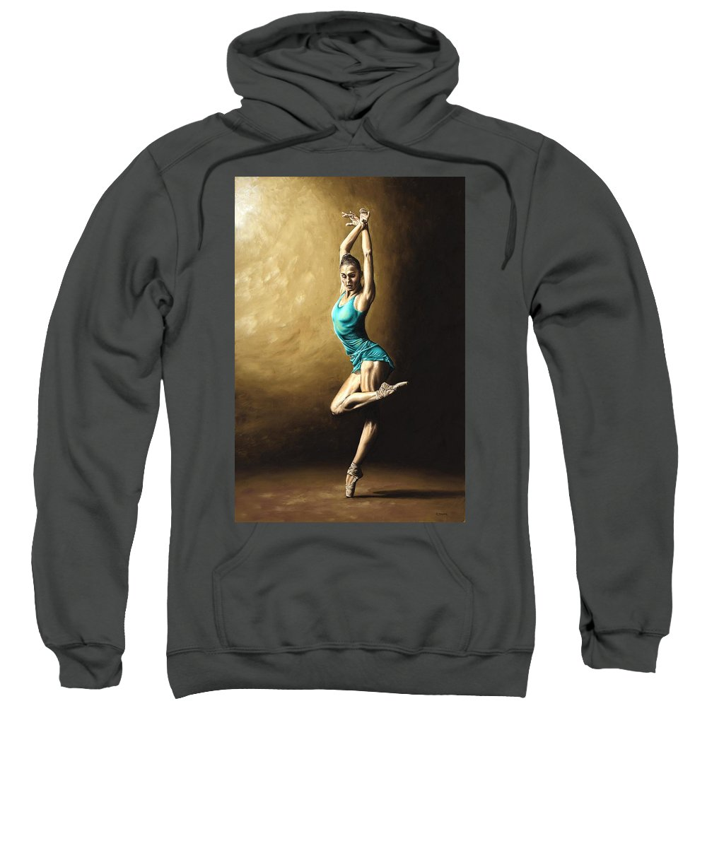 Dance Sweatshirt featuring the painting Ardent Dancer by Richard Young