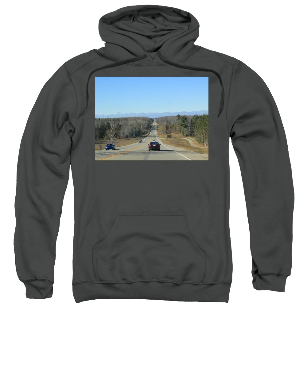 Roads Sweatshirt featuring the photograph Are We Almost There ? by James Lafnear