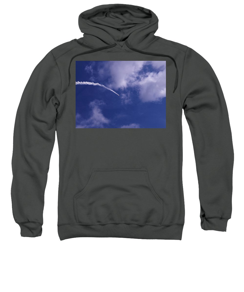 Rocket Sweatshirt featuring the photograph Ares1x Test Rocket Launch by Allan Hughes