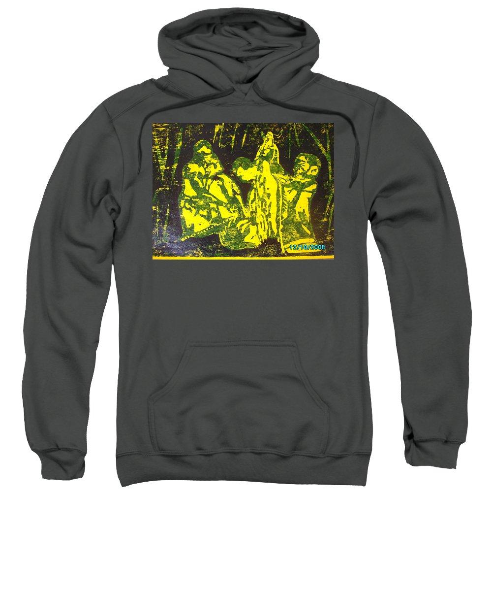 Festival Sweatshirt featuring the mixed media Argungun Festival 2 by Olaoluwa Smith
