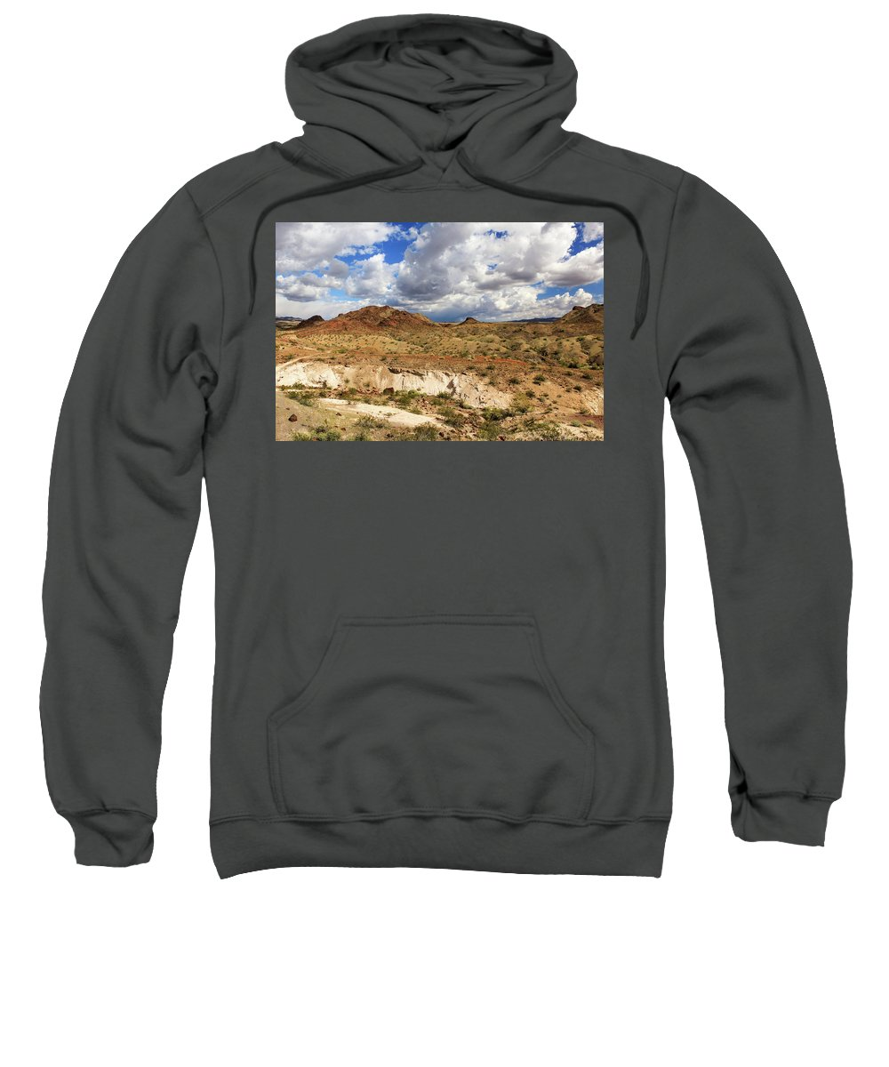 Landscape Sweatshirt featuring the photograph Arizona Cliffs by James Eddy