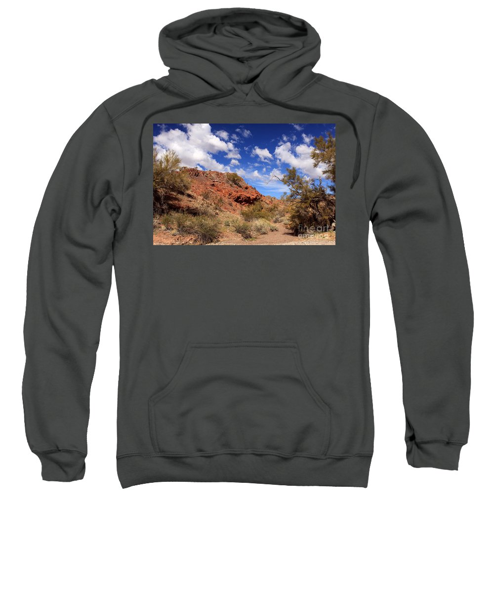 Landscape Sweatshirt featuring the photograph Arizona Red Rock by James Eddy