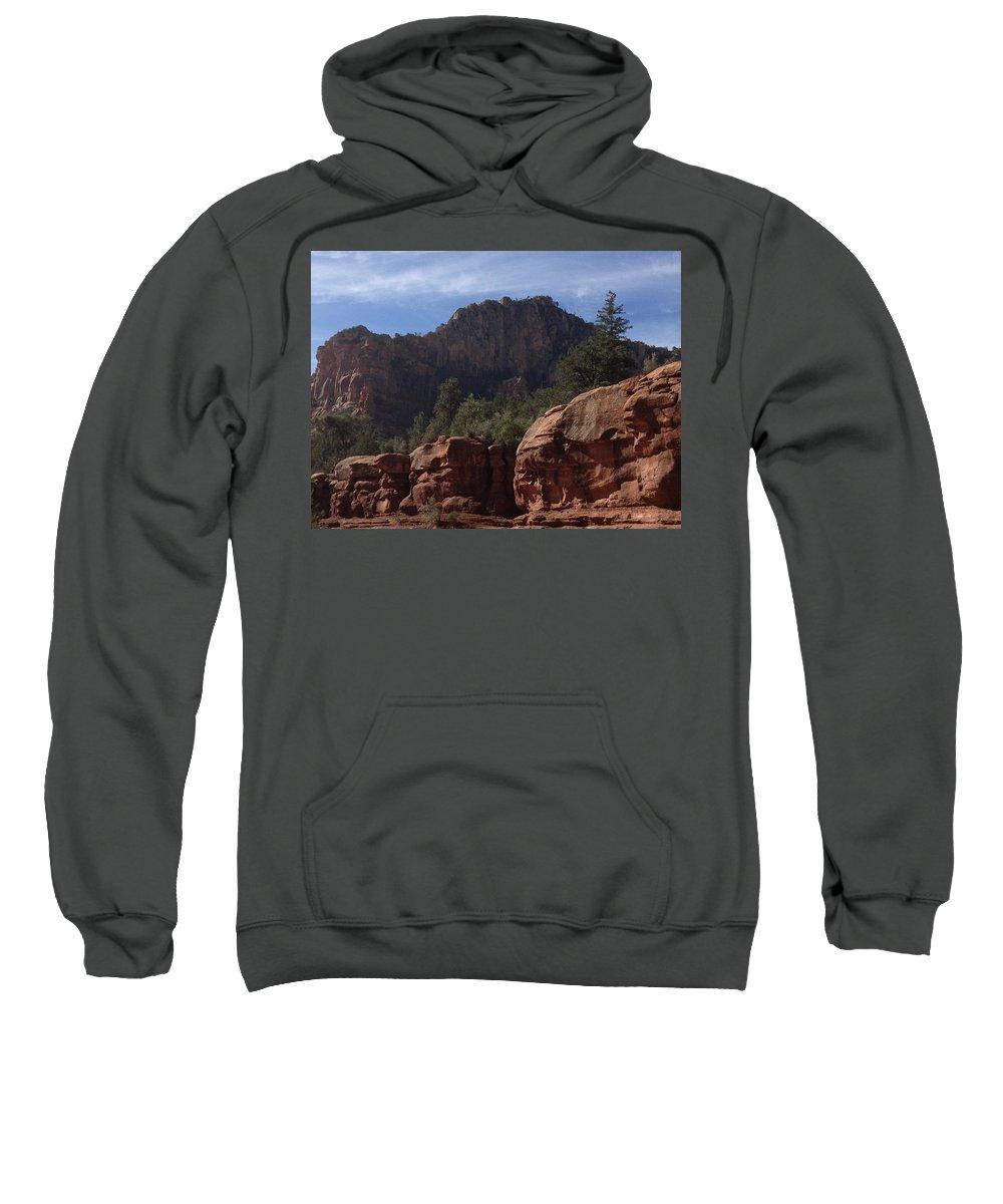 Arizona Sweatshirt featuring the photograph Arizona Red Rocks by Christine Oleson