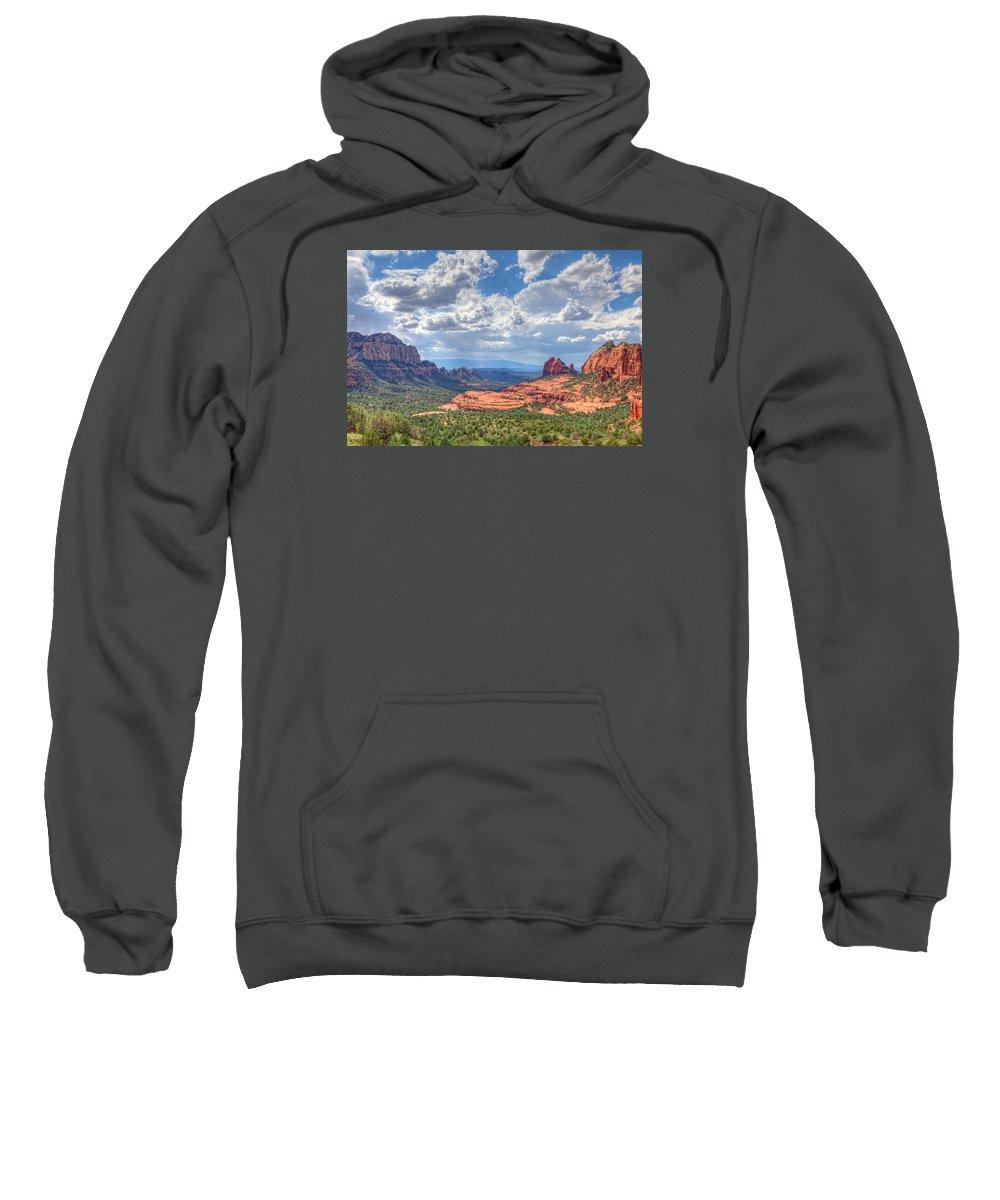 Arizona Sweatshirt featuring the photograph Arizona-sedona by Arlene Waller