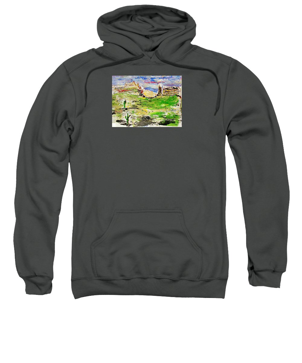 Impressionist Painting Sweatshirt featuring the painting Arizona Skies by J R Seymour