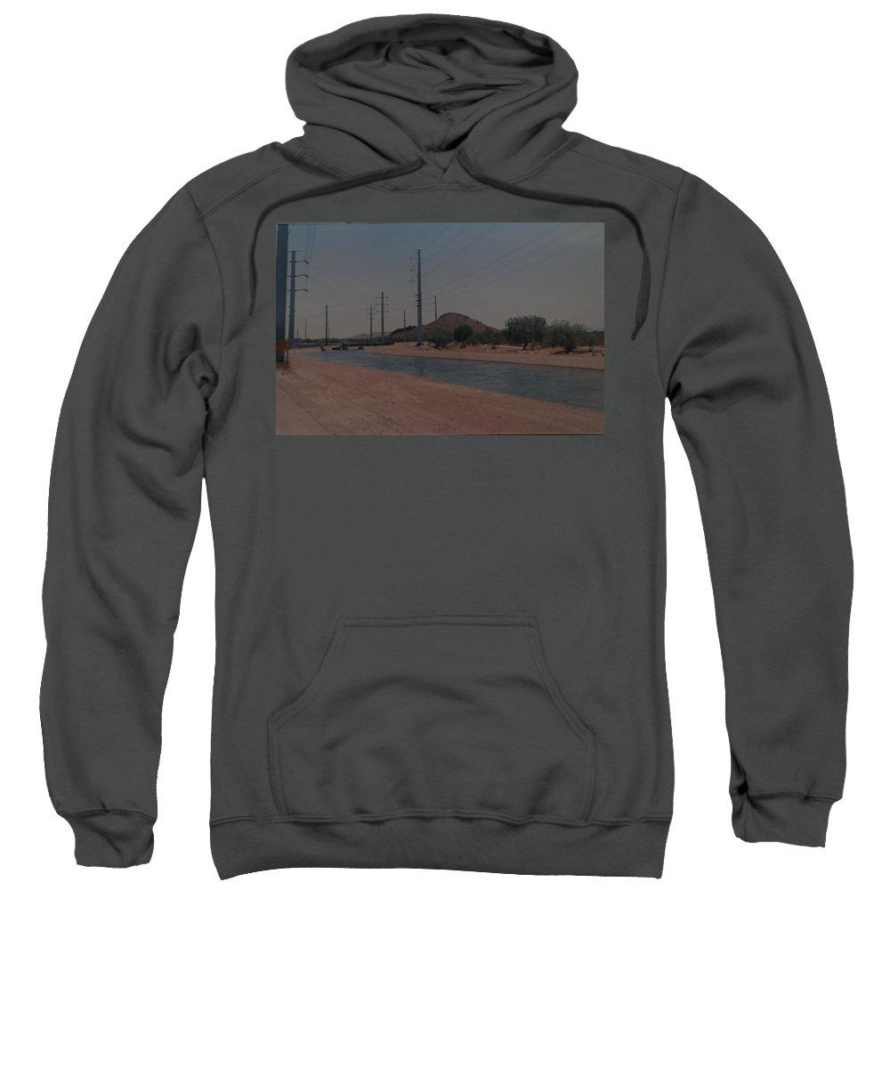 Arizona Sweatshirt featuring the photograph Arizona Waterway by Rob Hans