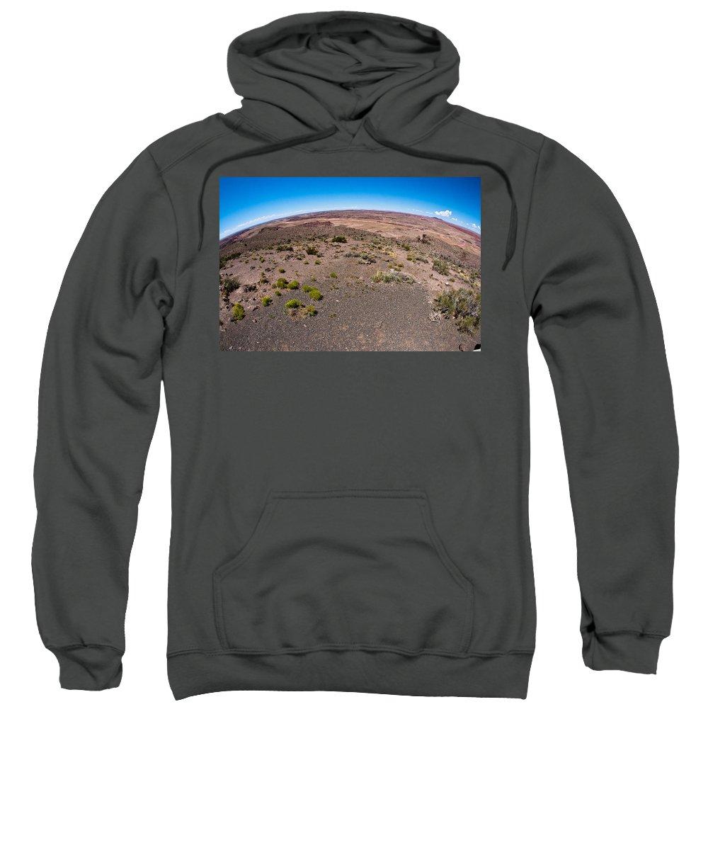 Painted Sweatshirt featuring the photograph Arizona's Painted Desert #2 by Robert J Caputo