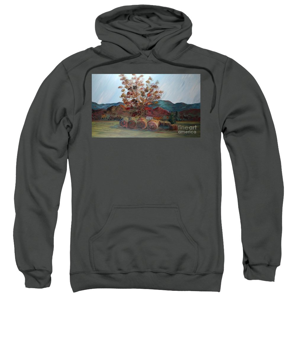 Autumn Sweatshirt featuring the painting Arkansas Autumn by Nadine Rippelmeyer
