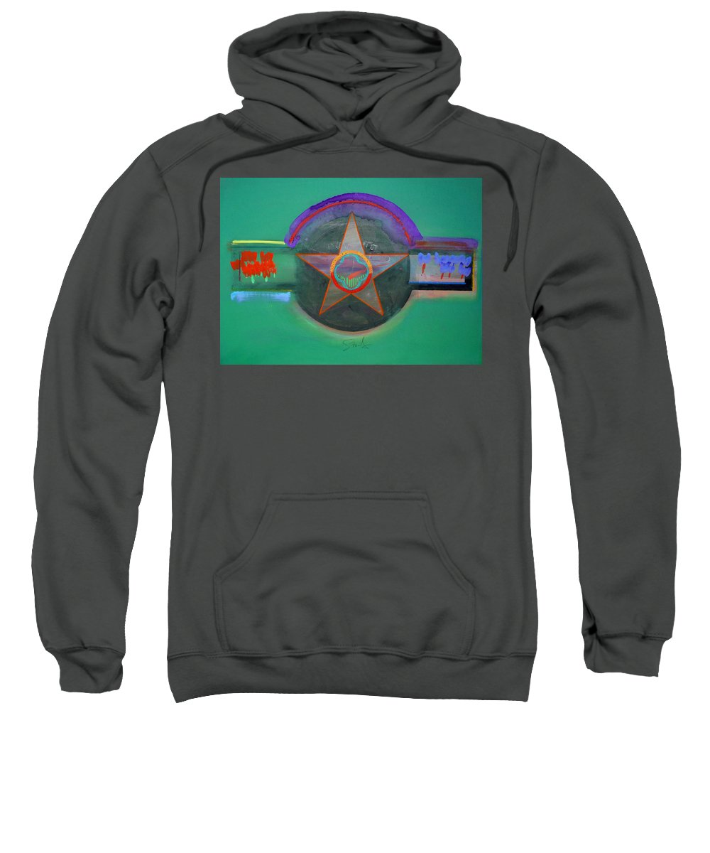 Star Sweatshirt featuring the painting Arlington Green by Charles Stuart