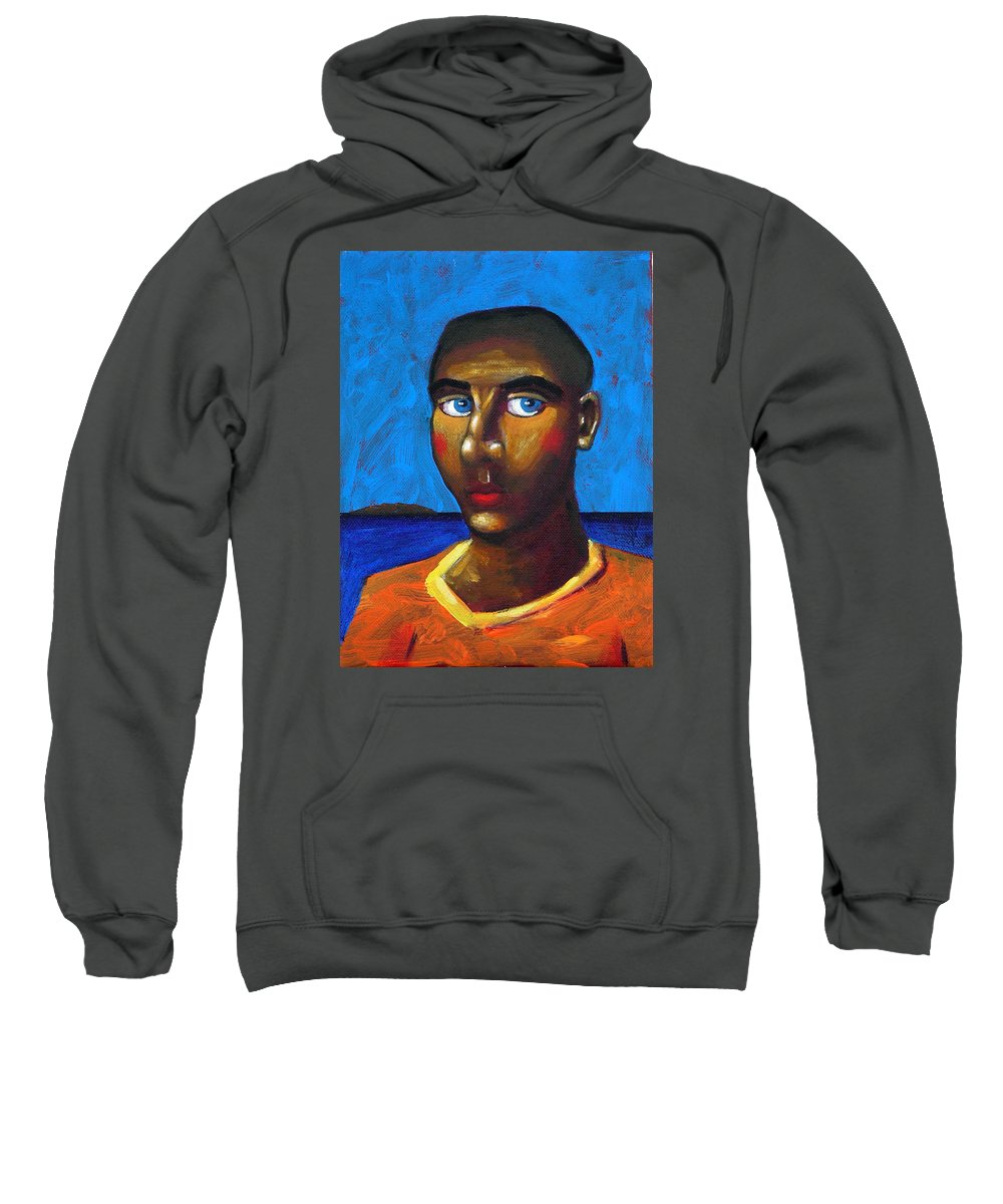 Arsonist Sweatshirt featuring the painting Arsonist by Dimitris Milionis