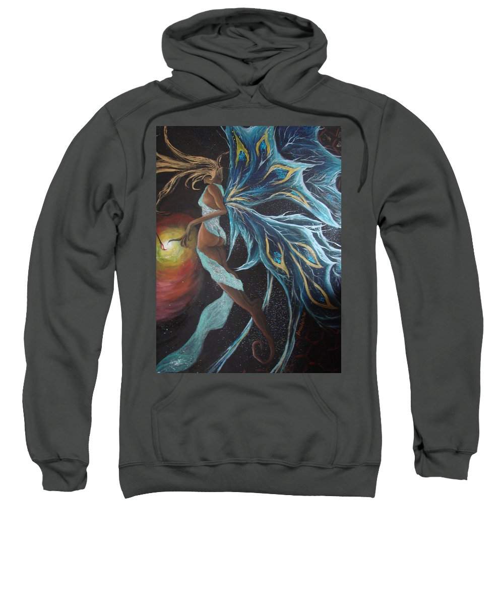 Figure Sweatshirt featuring the painting Art Is Magic by Glory Fraulein Wolfe