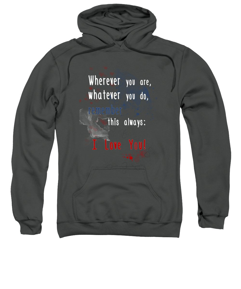 Fine Sweatshirt featuring the digital art Wherever You Are by Jutta Maria Pusl