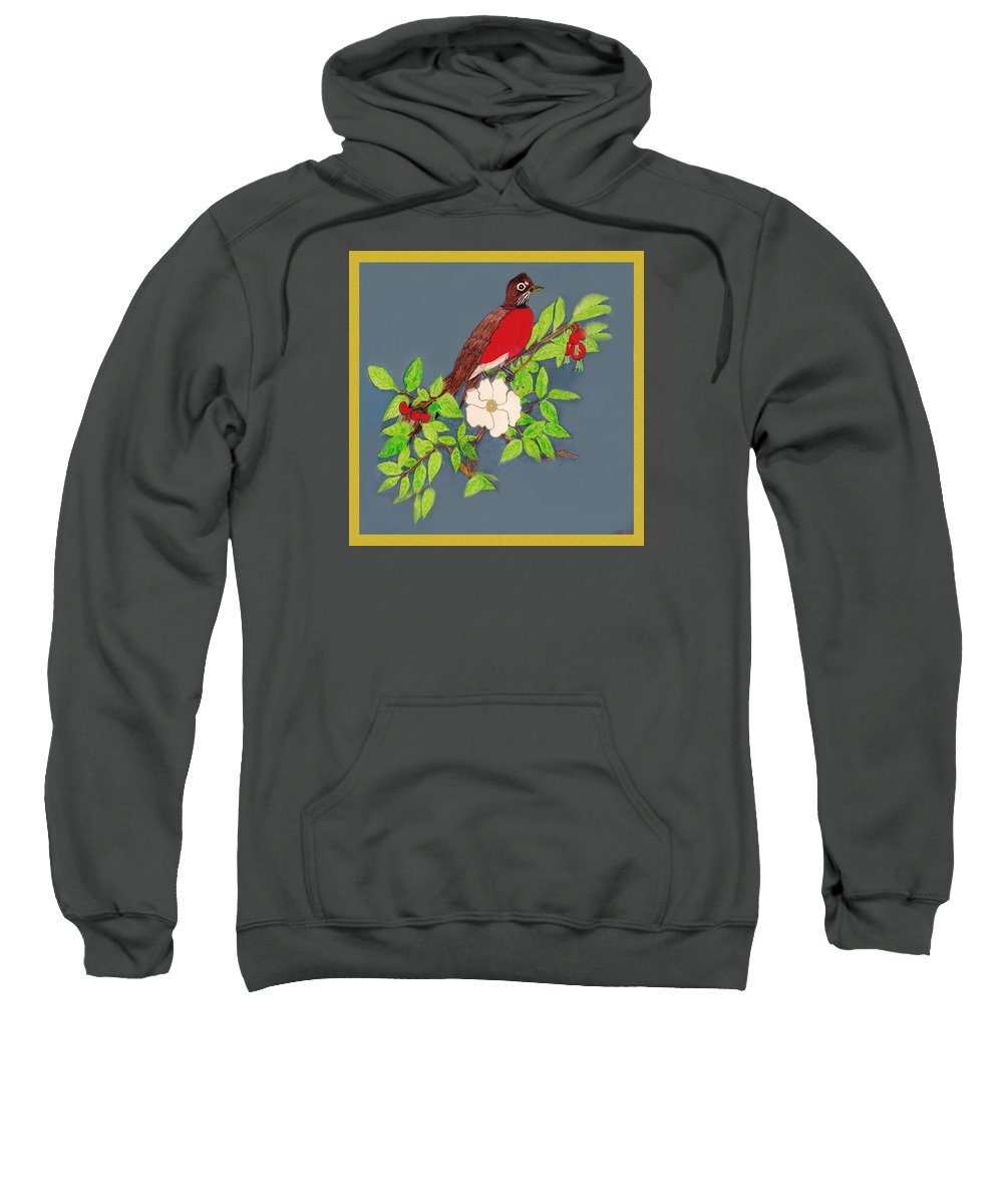 Surrealism Sweatshirt featuring the painting Joy To The World by Listen LeeMarie