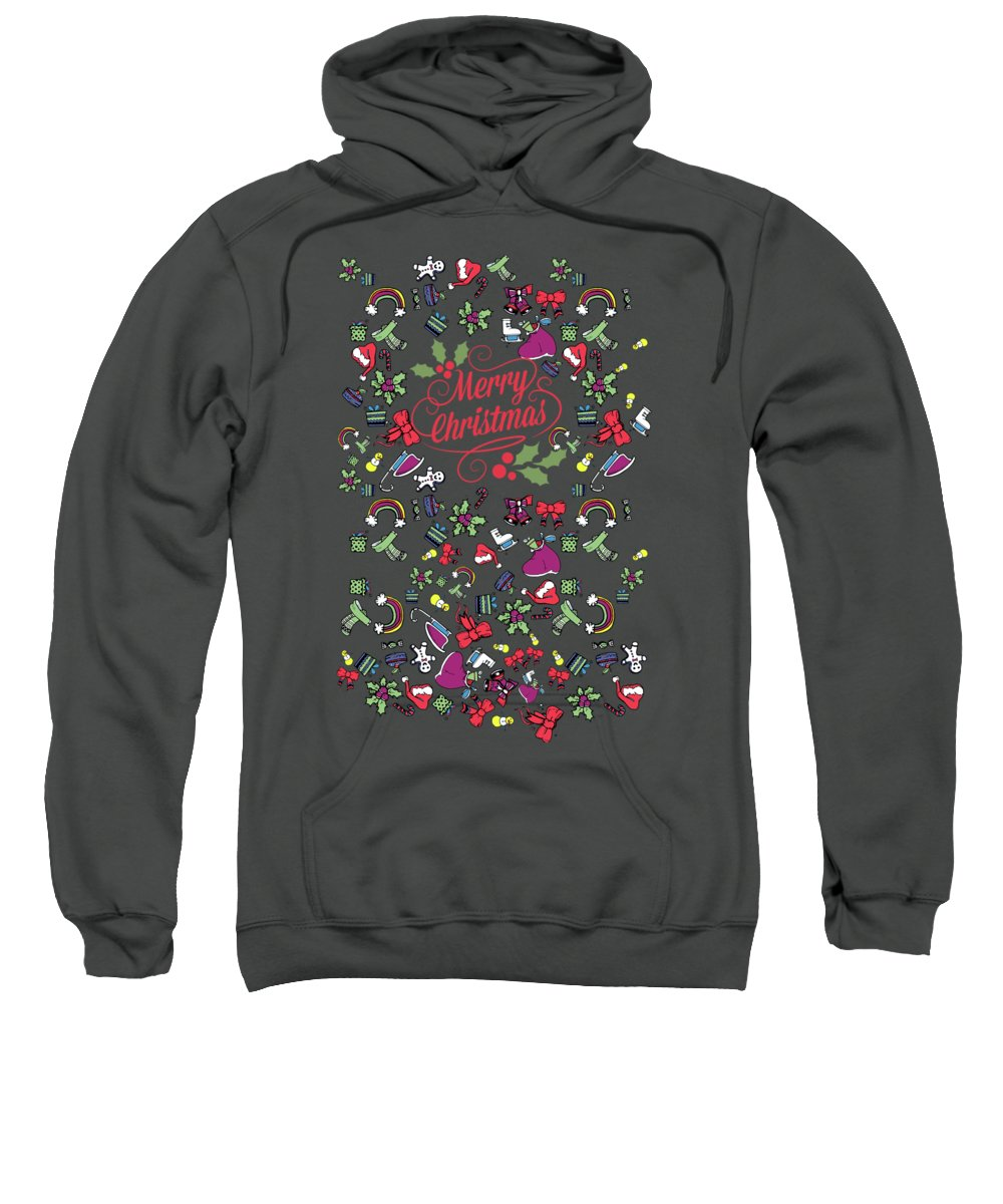 Sweet Sweatshirt featuring the digital art Happy Holiday by Mark Ashkenazi