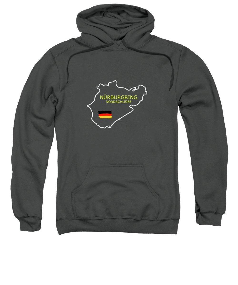 Nurburgring Sweatshirt featuring the photograph The Nurburgring Nordschleife by Mark Rogan