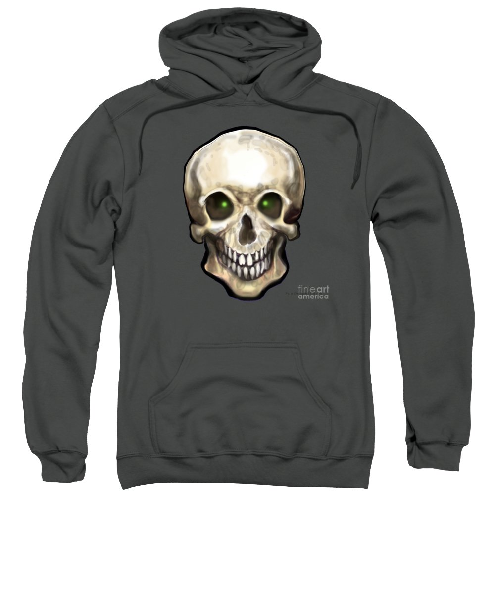 Skull Sweatshirt featuring the painting Skull by Kevin Middleton